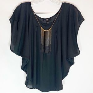 🌼I.N. San Francisco Short Bat Sleeve Blouse